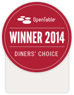 OpenTable 2014 Diners' Choice